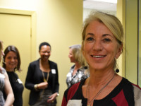 Heather McAdam in the Island Sexual Health clinic hallway