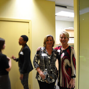 Our Executive Director, Bobbi and Medical Care Coordinator celebrate our open house