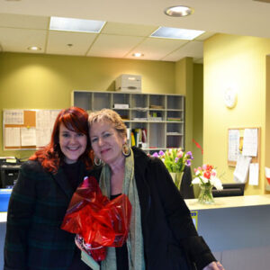 Our community educator, Jennifer with one of our long time volunteers, Kathryn.