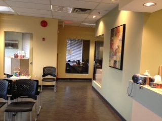 Photograph of our new clinical waiting room