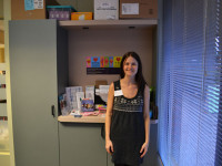 Kendra, our file manager in the new product sales room