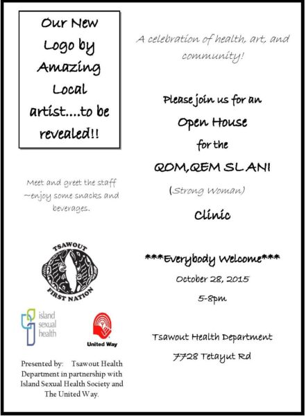 Clinic naming and Open House October 28th from 5-8 pm at our Tswawout location