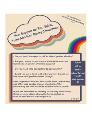 Support Collaboration for Two-Spirit, Trans and Non-Binary Community Folks with Trans Care BC