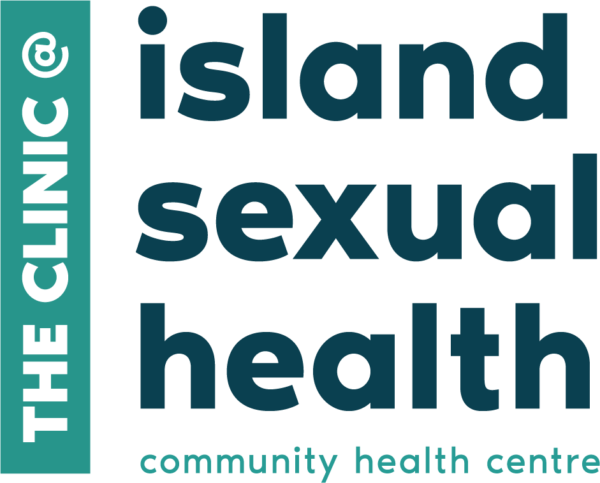 The Clinic logo: The Clinic at Island Sexual Health, community health centre.