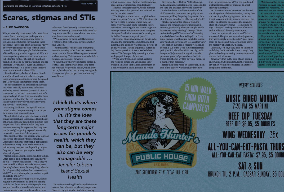 Cover shot of the Martlet story on scares, stimas and stis.